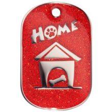 Hondenpenning.net leuke hondenpenning bowwow meow fashion home FHRL sparkling rood