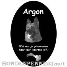 Gedenksteen voor hond kat dieren laser gegraveerd Hondenpenning.net ovaal staand
