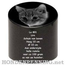 Urn voor de hond of kat met schuine bovenkant hond kat Hondenpenning.net