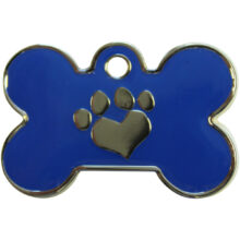Hondenpenning bot met pootje groot blauw hondenpenning.net HETDIER.nl Amigos-animals AnimalWebshop