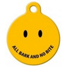 smiley geel yellow all bark and no bit