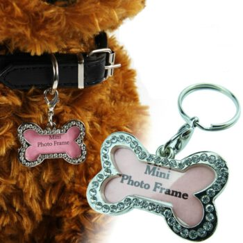Foto frame hondenpenningen met strass bling Hondenpenning.net AnimalWebshop