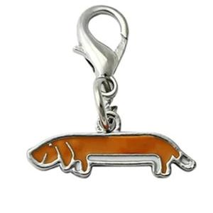 Hanger voor ketting of armband teckel Hondenpenning.net animalwebshop