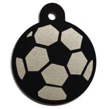 Hondenpenning voetbal hondenpenning bal zwart wit animalwebshop