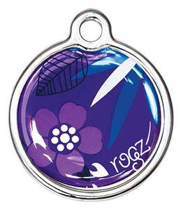 Purple Forest Rogz passport ID tagz metaal hondenpenning bij AnimalWebshop.com