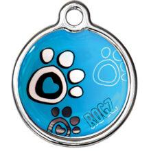 Turquoise paw Rogz passport ID tagz metaal hondenpenning bij Hondenpenning.net AMIGOS en HETDIER.nl