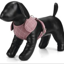 Polyester hondentuig Diamond Hondenpenning.net HETDIER.nl AnimalWebshop roze
