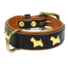 Hondenhalsband Westie verguld Hondenpenning.net HETDIER.nl AnimalWebshop