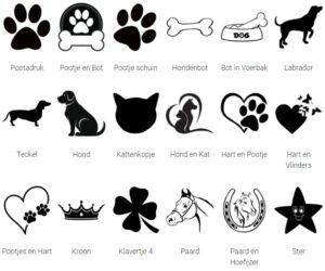 Optionele afbeeldingen budget hondenpenning Hondenpenning.net HETDIER.nl AnimalWebshop